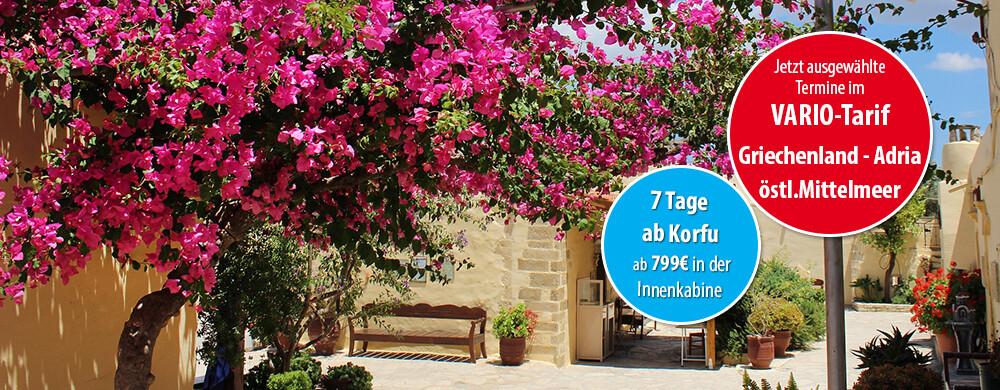 Griechische Inseln ab Korfu mit AIDAblu