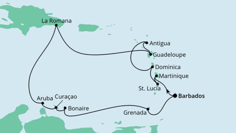 Karibische Inseln ab Barbados