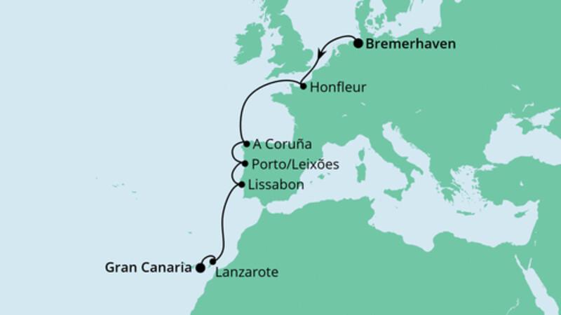 Von Bremerhaven nach Gran Canaria