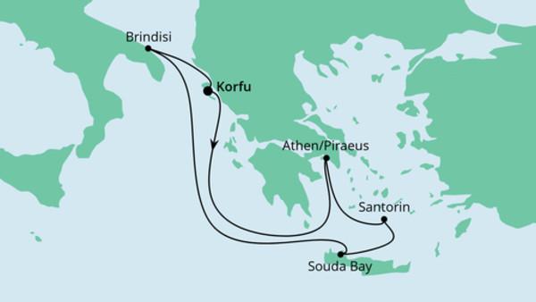 Griechenland ab Korfu