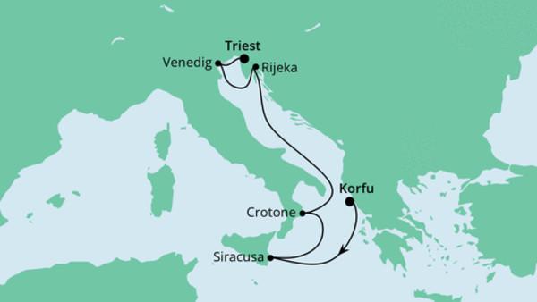 Von Korfu nach Triest