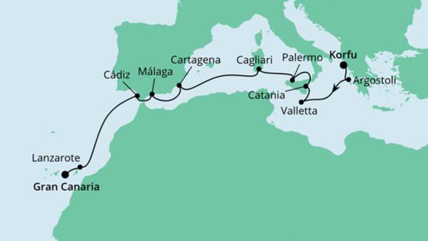 Von Korfu nach Gran Canaria