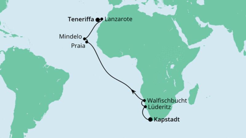 Von Kapstadt nach Teneriffa