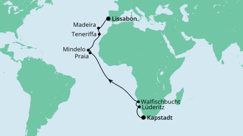 Von Kapstadt nach Lissabon