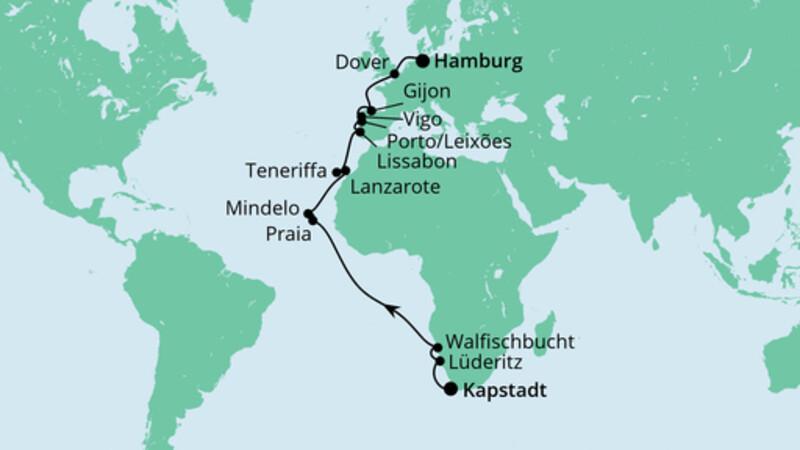 Von Südafrika nach Hamburg