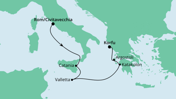 Von Rom nach Korfu 1