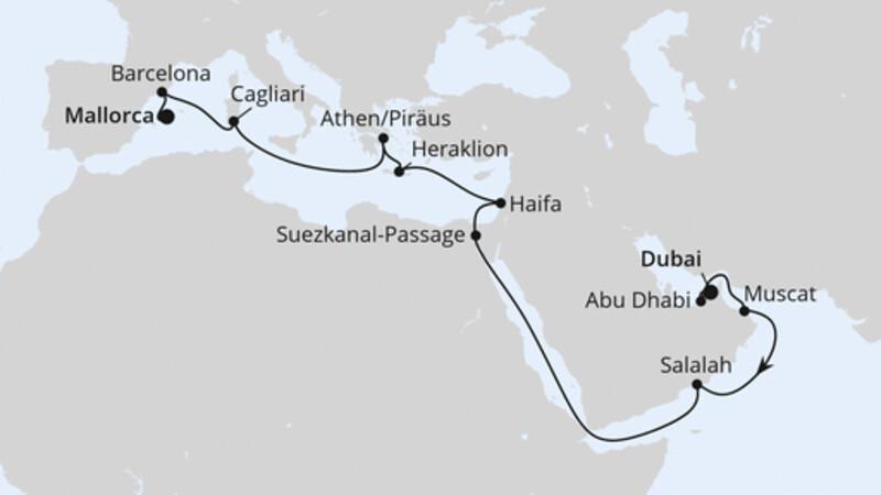 Von Dubai nach Mallorca 2