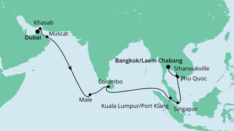Von Dubai nach Bangkok 2