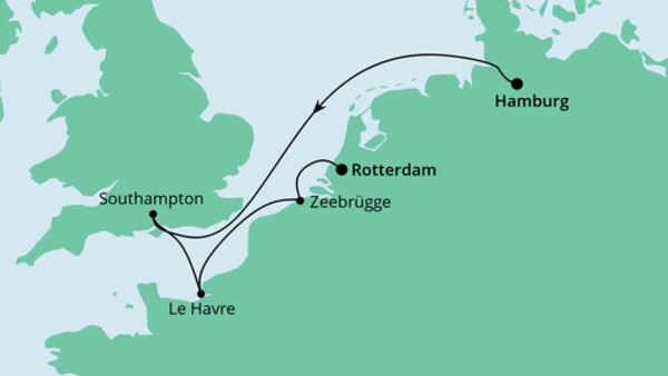 Von Hamburg nach Rotterdam