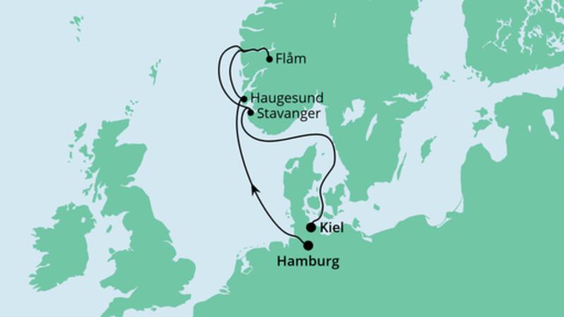 Norwegen von Hamburg nach Kiel