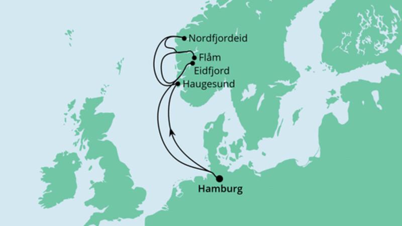 Norwegen ab Hamburg