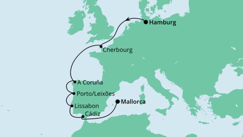 Von Hamburg nach Mallorca
