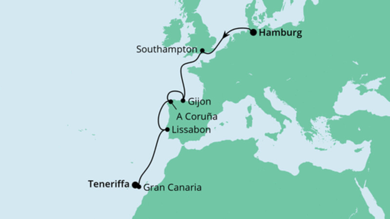 Von Hamburg nach Teneriffa