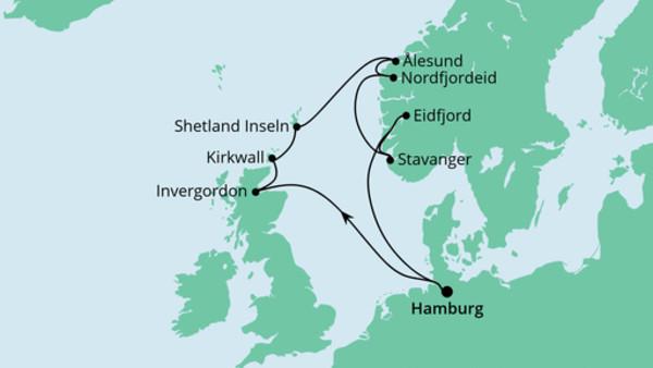 Nordische Inseln mit Norwegen