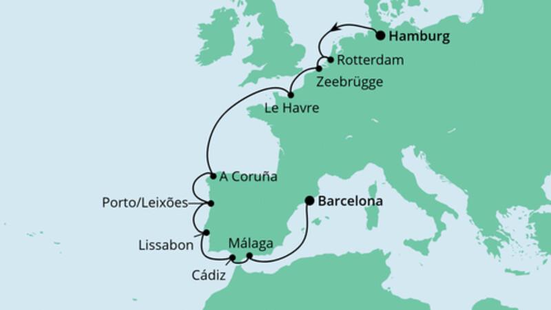 Von Hamburg nach Barcelona