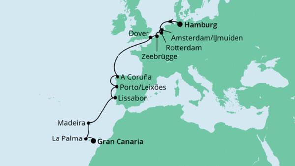 Von Hamburg nach Gran Canaria