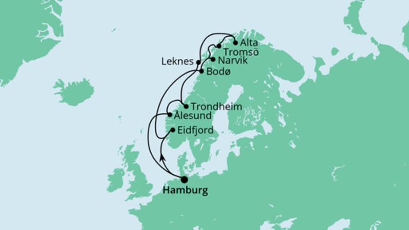 Herbstliche Nordlichter ab Hamburg