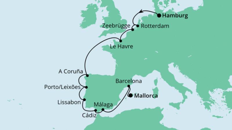 Von Hamburg nach Mallorca 2