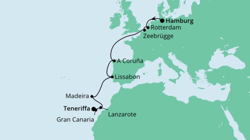 Festtagsreise von Hamburg nach Teneriffa
