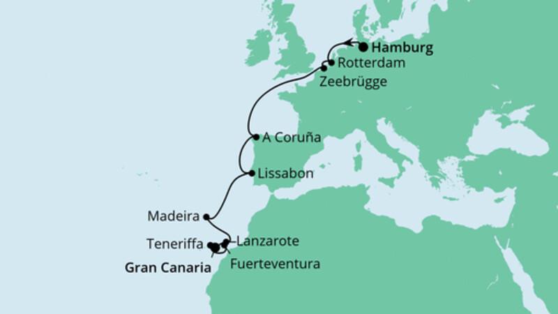 Festtagsreise von Hamburg nach Gran Canaria