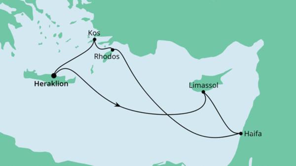Griechenland, Zypern & Israel