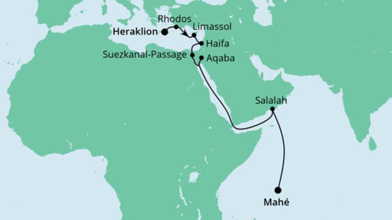 Von Kreta zu den Seychellen