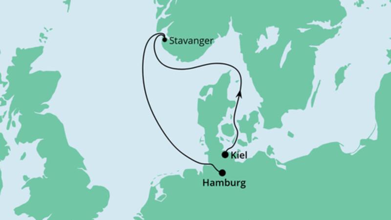 Kurzreise von Kiel nach Hamburg