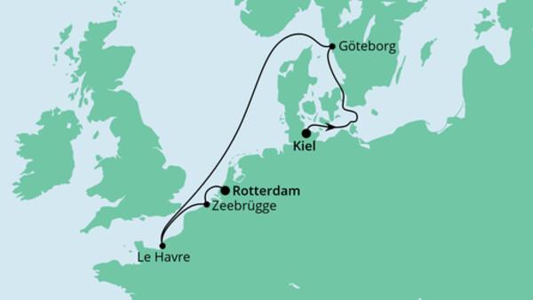 Von Kiel nach Rotterdam