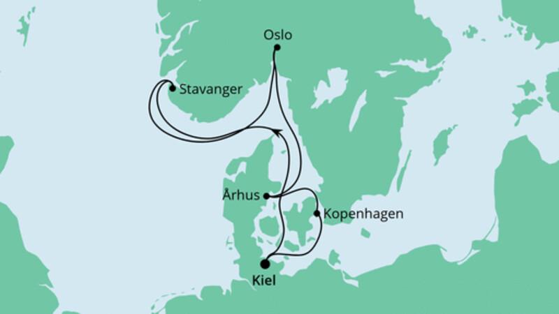 Norwegen & Dänemark ab Kiel