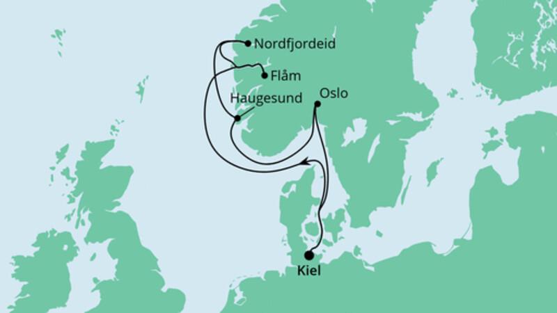 Norwegen ab Kiel 1
