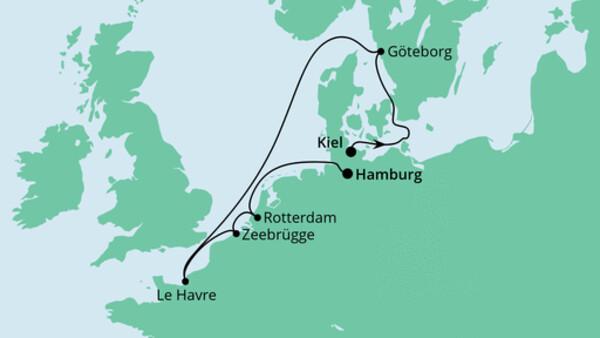 Von Kiel nach Hamburg