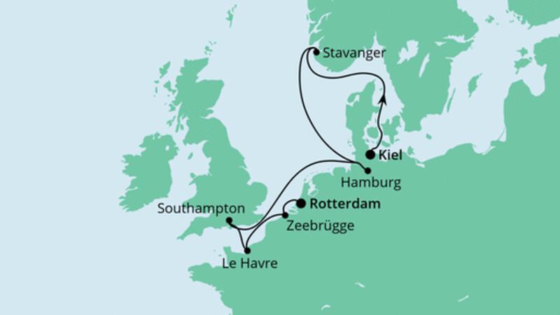 Metropolen von Kiel nach Rotterdam