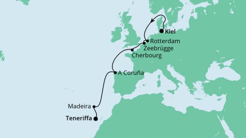 Von Kiel nach Teneriffa