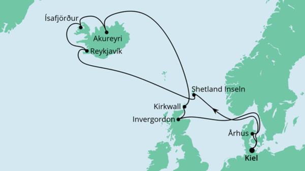 Nordische Inseln mit Island