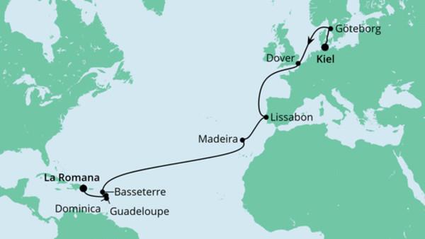 Von Kiel in die Dominikanische Republik