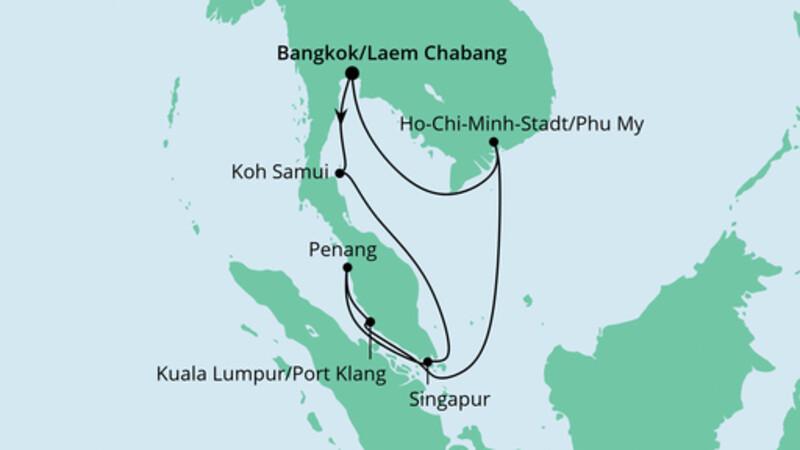 Thailand, Malaysia & Singapur