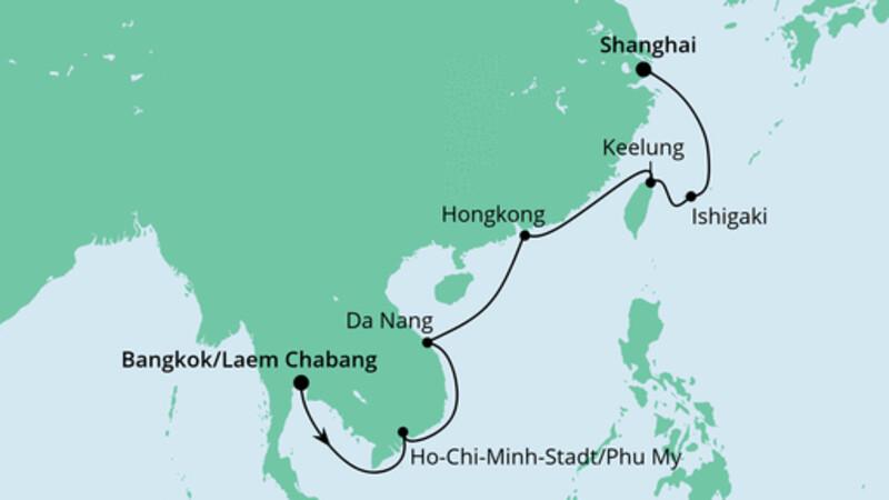 Von Bangkok nach Shanghai