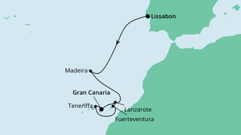 Silvesterreise von Lissabon nach Gran Canaria