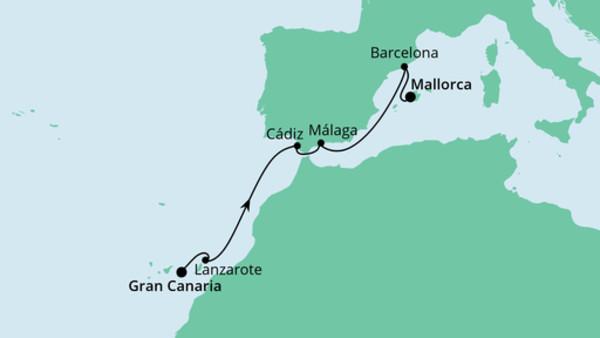 Von Gran Canaria nach Mallorca
