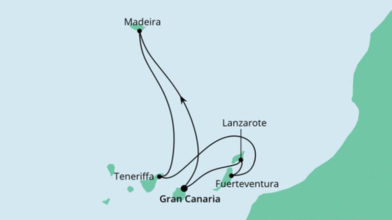 Kanaren und Madeira ab Gran Canaria