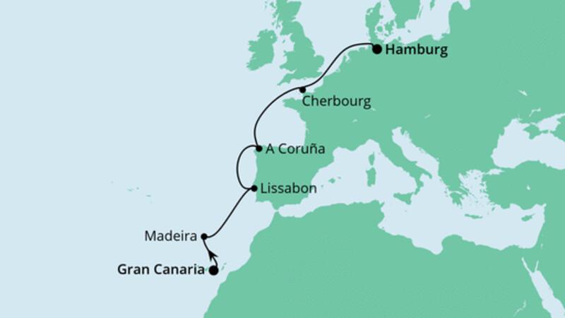 Von Gran Canaria nach Hamburg