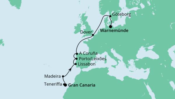 Von Gran Canaria nach Warnemünde