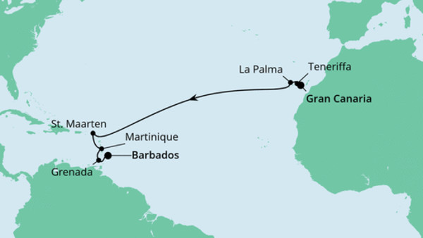 Von Gran Canaria nach Barbados