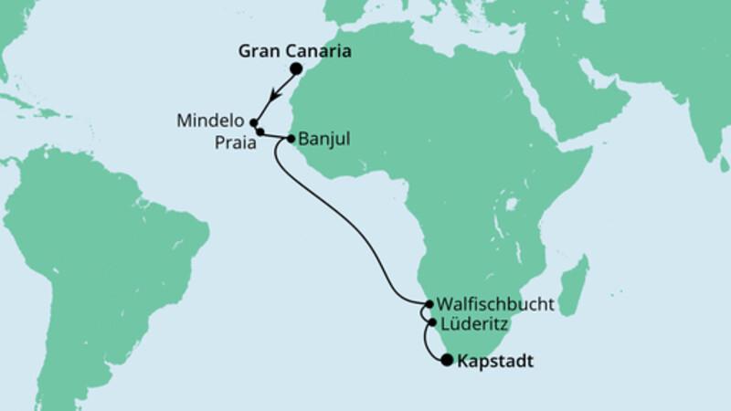 Von den Kanaren nach Südafrika
