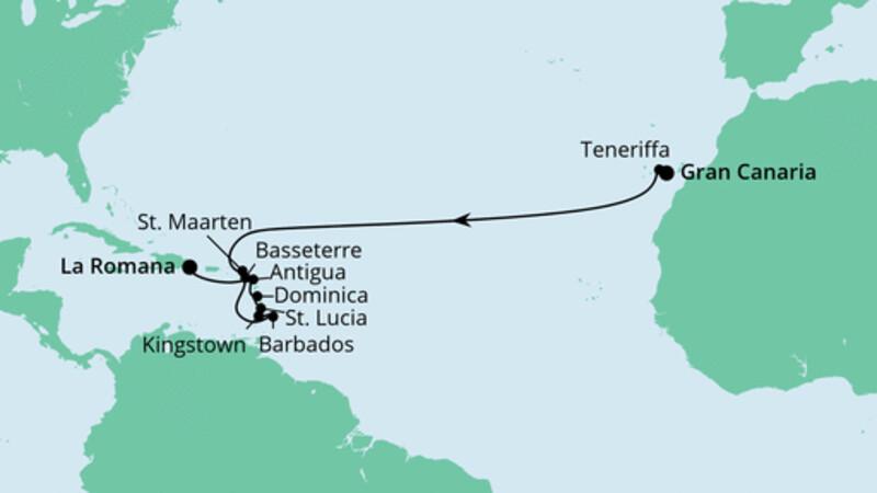 Von Gran Canaria in die Dominikanische Republik