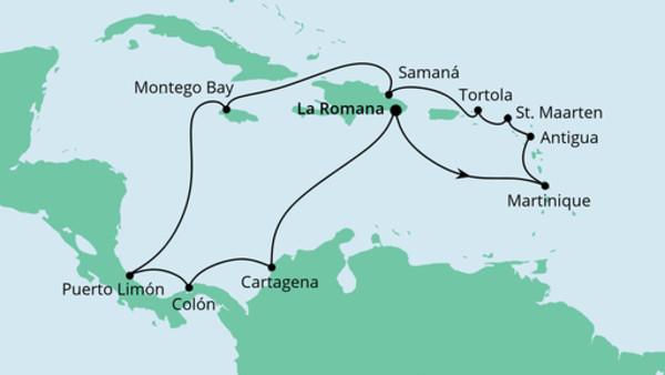 Karibik & Mittelamerika ab Dominikanische Republik