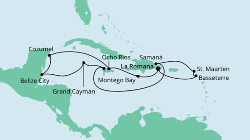 Karibik & Mexiko ab Dominikanische Republik
