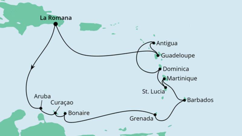 Karibische Inseln ab Dominikanische Republik