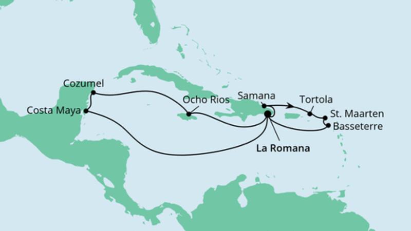 Karibik & Mexiko ab Dominikanische Republik 2