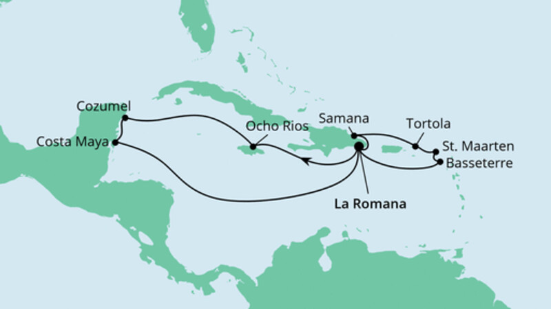Karibik & Mexiko ab Dominikanische Republik 1